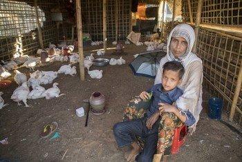 Fatema, mama wa watoto wanne, mumewe alifariki dunia nchini Myanmar na sasa yeye anaishi Bangladesh. Anafanya kazi kwenye duka la kuuza kuku na anapta dola 1.18 kwa siku.