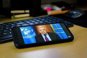 Генеральный секретарь ООН  выступил в ходе виртуальной пресс-конференции