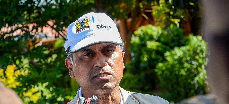 El representante de la ONU en Kenia, habla a los medios sobre la situación en el país con el coronavirus.