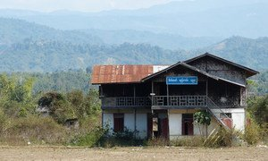 According to UNICEF, security forces have reportedly occupied several schools and university campuses in Myanmar. Pictured here a school building in the country's north. (file photo)