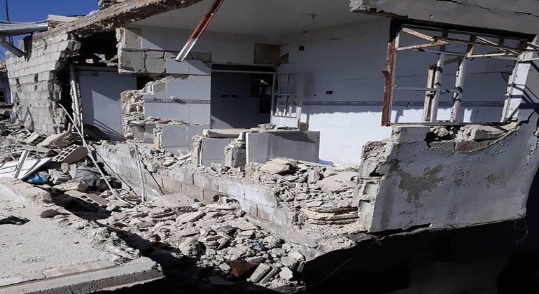 صورة لمنزل الصحفي مصطفى الدبّاس بعد تعرّضه للدمار في برزة.