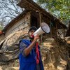 Mohammad Alam, a Rohingya refugee, has been working with IOM to keep his community informed following the fire at Cox's Bazar.