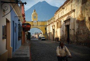 Una calle de la ciudad guatemalteca de Antigua.