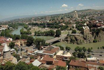 Вид на столицу Грузии Тбилиси
