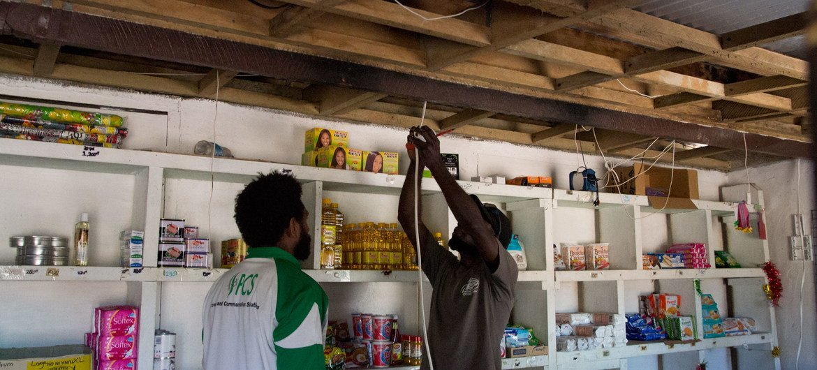 It's hoped the swarm grids will enable Vanuatu to transition to 100 per cent renewable energy.