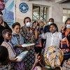 UNFPA Executive Director Dr. Natalia Kanem visits a hospital in the Democratic Republic of the Congo.