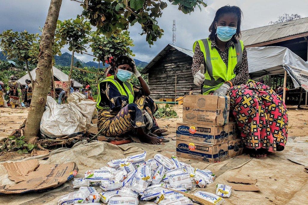 Familia zilizofurushwa kwa ajili ya mzozo mashariki mwa DRC wanapatiwa msaada wa kibinadamu na mashirika ya UN.
