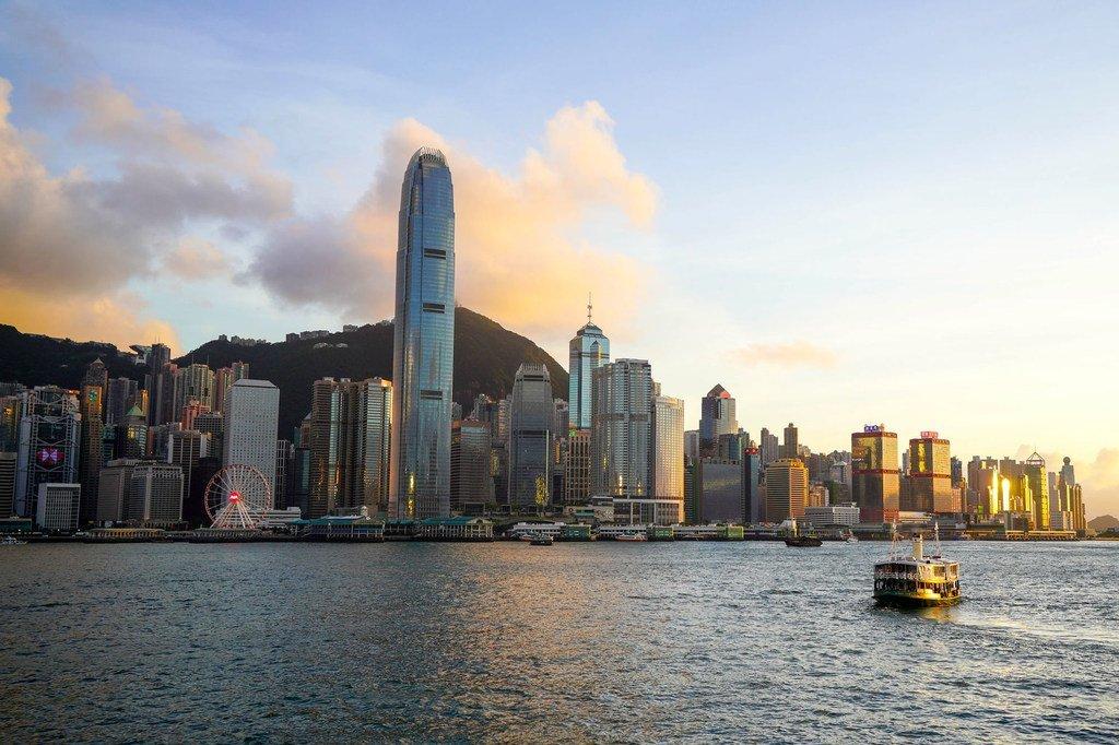 Vue du port d'Hong Kong
