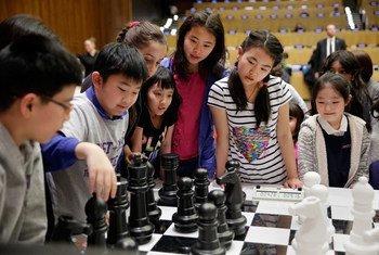 联合国承认国际象棋是一种促进公平、包容和相互尊重的全球游戏。