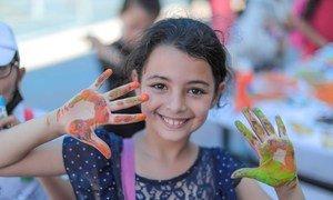 المفوض العام للأونروا فيليب لازاريني يفتتح الأنشطة الصيفية من أجل منح أطفال غزة فصلا صيفيا ممتعا.