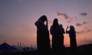 Women near the town of Kladanj, in Bosnia and Herzegovina (1995).