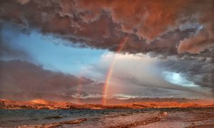 Rainbow after a storm in Croatia.