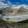 The largest glacier in the Swiss Alps, the Aletschgletscher, is melting rapidly and could disappear altogether by 2100.