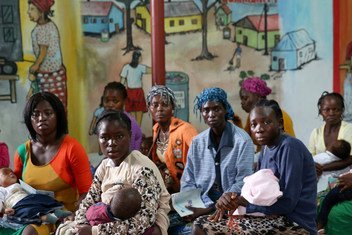 Patients seeking treatment at the Redemption Hospital in Monrovia, Liberia.