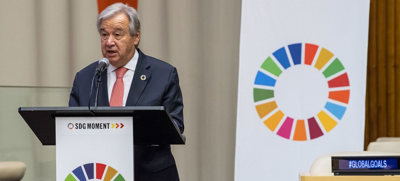 Secretário-geral das Nações Unidas, António Guterres, se encontroucom aaliança de 30 executivos