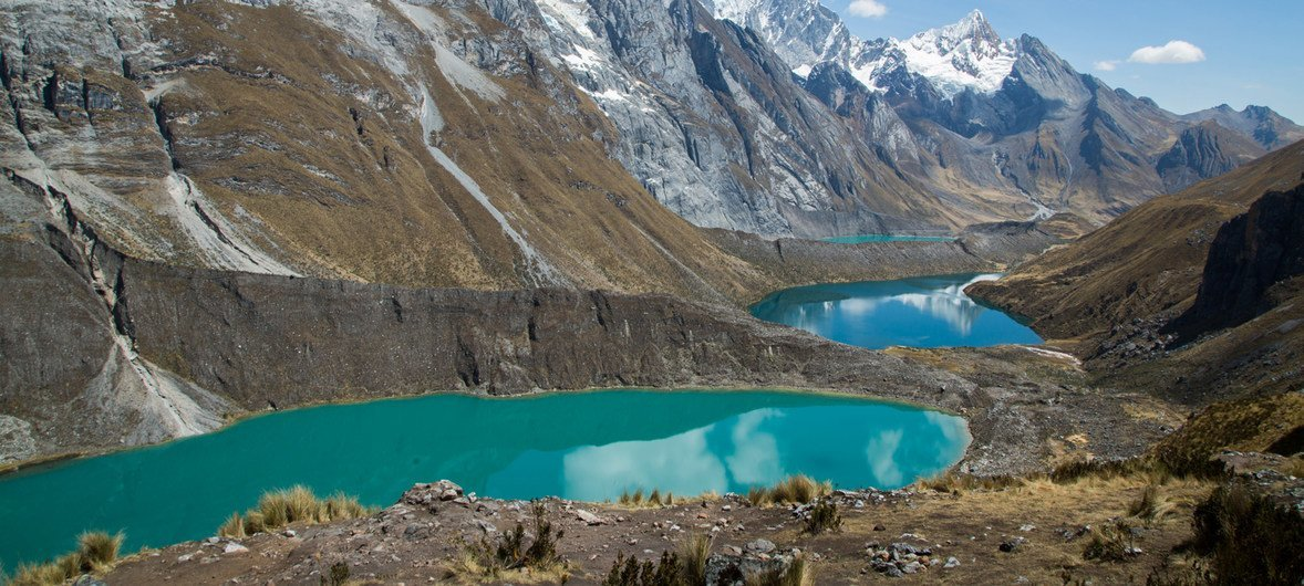 Cordillera Huayhuash in August 2019. The Andes contain 99% of the world's tropical glaciers and 71% are in Peru.