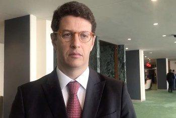O ministro do Meio Ambiente do Brasil, Ricardo Salles, lembrou o progresso feito pelo Brasil para cumprir o Acordo de Paris, destacando as energias renováveis.