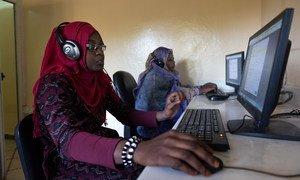 Les progrès de la technologie ont aidé ce centre d'emploi de Nouakchott, en Mauritanie, à toucher davantage de demandeurs d'emploi.