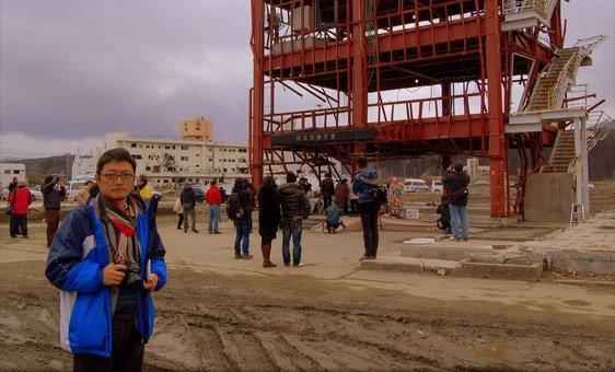 O jornalista brasileiro Ewerthon Tobace trabalhou na cobertura do desastre no Japão.