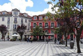 Cidade de Leiria, em Portugal.
