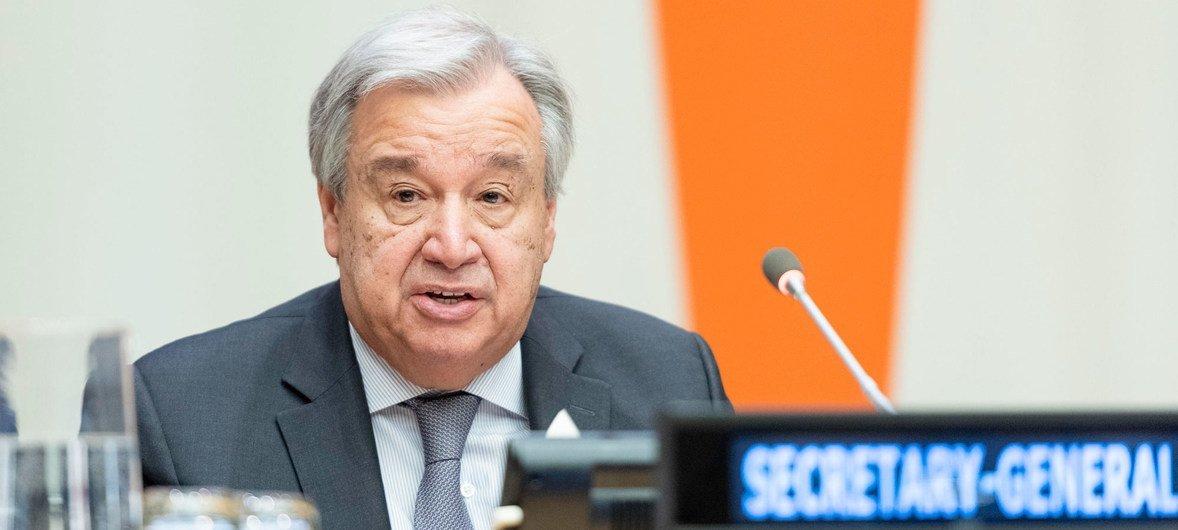 संयुक्त राष्ट्र महासचिव एंतोनियो गुटेरेश
