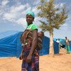 A mother and her baby at the IDP Pissila campsite in Burkina Faso.