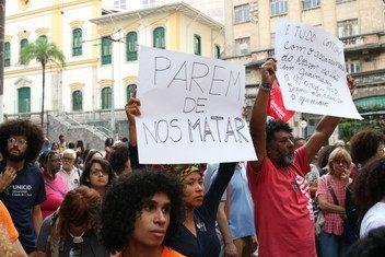 Protesto contra as mortes em Paraisópolis