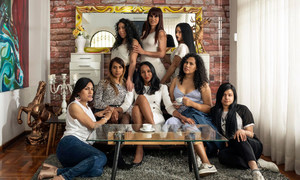 Trans women from the project Familia Féminas,at their home in Lima, Perú.