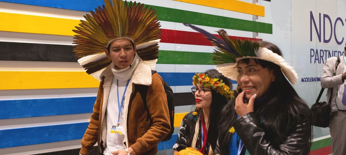 Visitors atttend COP25 at the UN Climate Change Conference in Madrid, Spain.