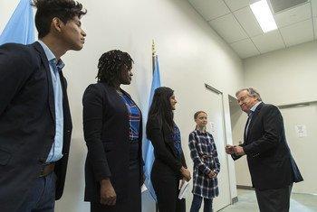 António Guterres dedicou a mensagem à juventude.
