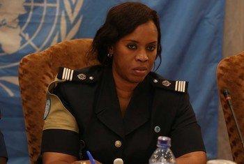 Seynabou Diouf, Commandant de police sénégalaise préside un atelier sur les droits des enfants, animé par le réseau des femmes UNPOL