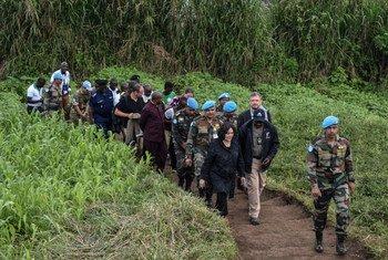 Le 15 novembre 2019, Mme Leila Zerrougui, Représentante spéciale du Secrétaire général, s'est rendue à Kitshanga, dans la province du Nord Kivu, dernière étape de sa visite dans le Petit Nord.