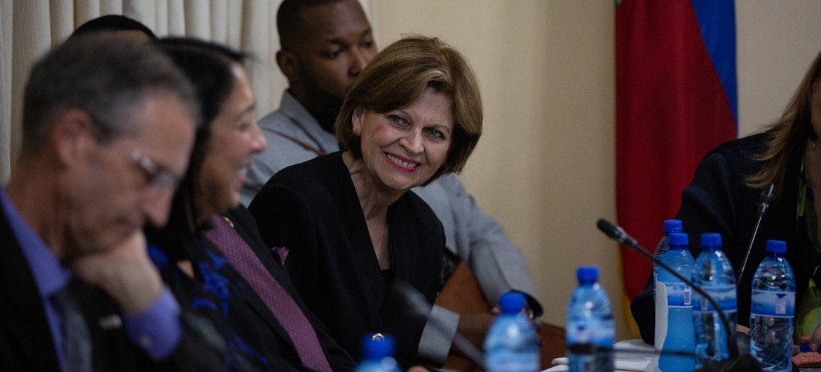 联合国秘书长海地事务特别代表兼联合国海地司法支助团团长海伦·拉莱姆。(资料图片)