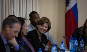 Ms. Helen La Lime, Special Representative of the Secretary-General for Haiti and head of the integrated UN office in Haiti, BINUH. File photo shows her in a former role as head of the United Nations Mission for Justice Support in Haïti, MINUJUSTH.