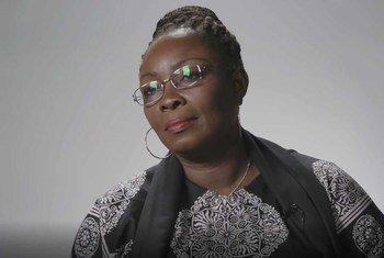 Aline Gisèle Pana, Ministre centrafricaine de la Promotion de la femme, de la famille et de la protection de l'enfance.