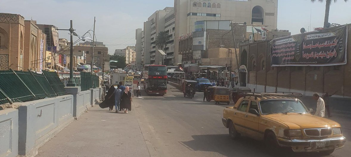 A once busy street in Baghdad, Iraq.