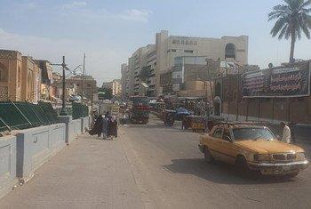 Mitaa ya mji wa Baghdad, Iraq kabla ya kuibuka kwa machafuko