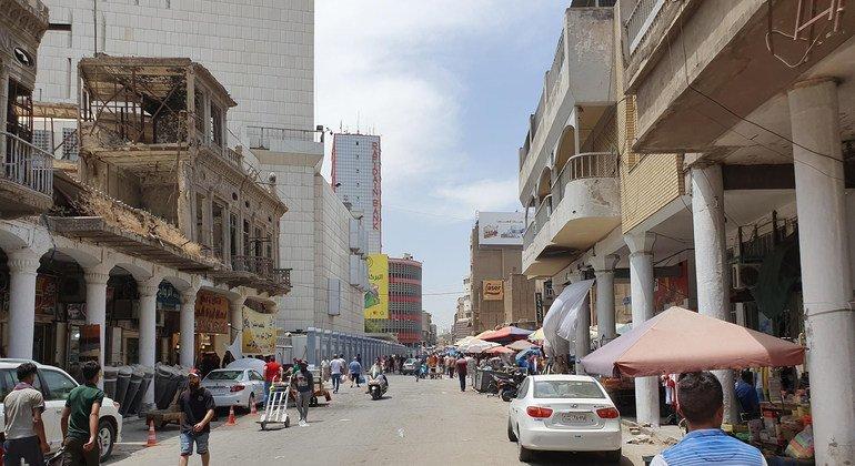 Una vista de la ciudad de Bagdad
