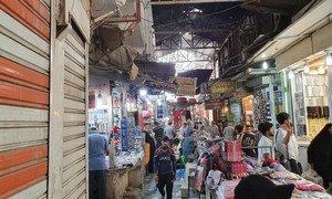 伊拉克首都巴格达街景。