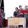 Durante cerimônia de posse, o presidente Filipe Nyusi se comprometeu em promover a justiça para todas as pessoas de Moçambique.