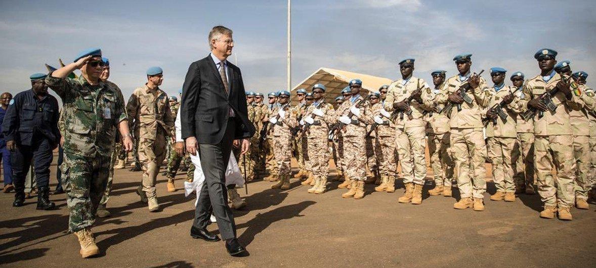 Jean Pierre-Lacroix, chefe das Operações de Paz da Nações Unidas durante viagem oficial ao Mali.