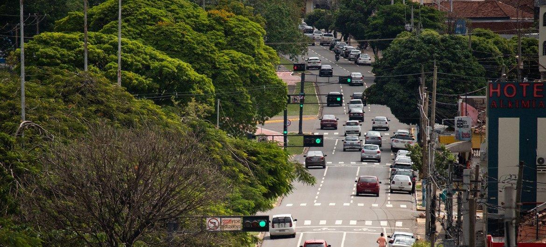 Vista de la ciudad brasileña de Campo Grande.