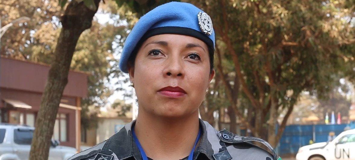 Darilene Monteiro é a primeira policial brasileira em serviço na Missão da ONU na República Centro-Africana, Minusca.