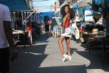 """Matheus Affonso considers himself an """"LGBT photographer"""" and believes it's important to """"portray a population that is often invisible inside the favela"""", or slum area."""