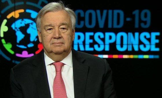 Secretário-geral acredita que o mundo tem ainda a oportunidade de se recuperar melhor com sociedades e economias mais inclusivas e sustentáveis.