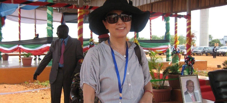 2011年7月, 姜华参加南苏丹的建国典礼。