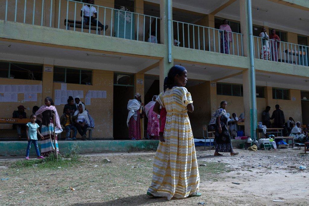 مركز للمشردين داخليا في تيغراي بإثيوبيا.