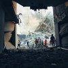 Destruction à Gaza à la suite d'une frappe aérienne israélienne.