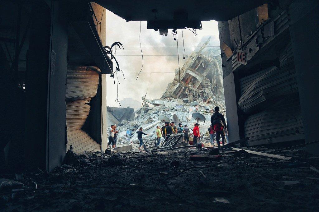 Uharibufu katika Ukanda wa Gaza kufuatia mashambulizi ya Israel
