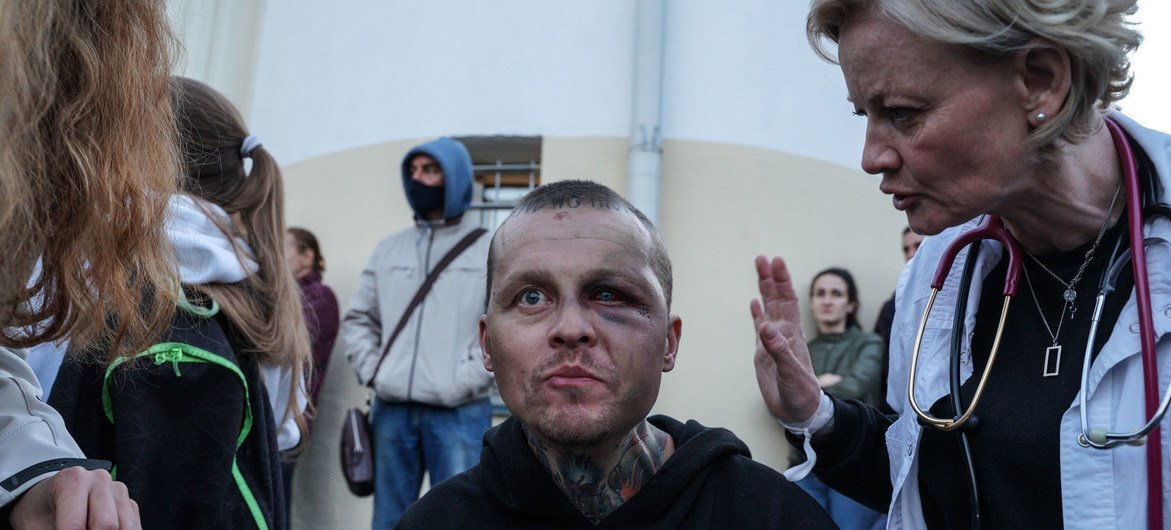 UN human rights experts, strongly criticized the level of violence being used by security forces across Belarus against peaceful protesters and journalists, following five days of demonstrations over the disputed presidential election.